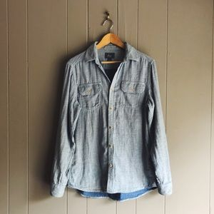 G.H. Bass & Co Chambray Double-cloth Shirt
